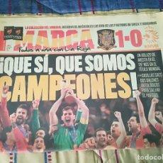 Colecionismo desportivo: PERIODICO MARCA DEL 12 DE JULIO DEL AÑO 2010.ESPAÑA CAMPEONA DEL MUNDO.. Lote 199860003