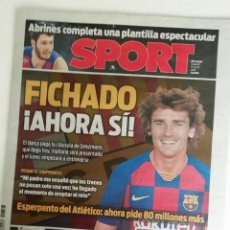 Coleccionismo deportivo: SPORT: GRISMAN FICHA POR EL F.C BARCELONA. Lote 200193203