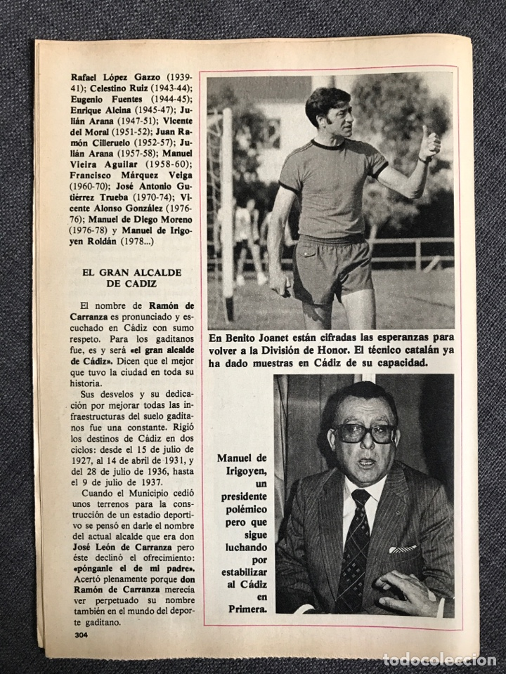 Coleccionismo deportivo: Historia Fútbol Español - Cádiz - capítulo 13 - colección don balón - as Marca cromo álbum - Foto 3 - 200558901