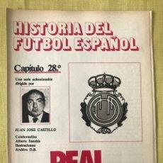 Coleccionismo deportivo: HISTORIA FÚTBOL ESPAÑOL - MALLORCA - CAPÍTULO 28 - COLECCIÓN DON BALÓN - AS MARCA CROMO ALBUM. Lote 200785505