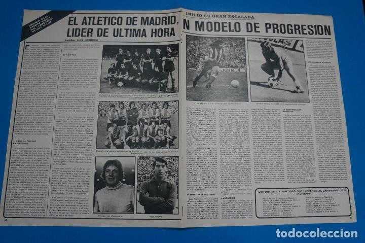 Coleccionismo deportivo: POSTER DE FUTBOL DEL LEIVINHA Y PEREIRA DEL ATLETICO DE MADRID DE AS COLOR - Foto 2 - 201272246
