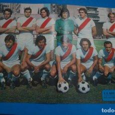 Coleccionismo deportivo: POSTER DE FUTBOL DEL RAYO VALLECANO DE AS COLOR. Lote 201272377