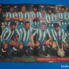 Coleccionismo deportivo: POSTER DE FUTBOL DEL DEPORTIVO ALAVES DE AS COLOR. Lote 201272848