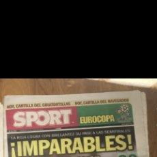 Coleccionismo deportivo: SPORT 24 JUNIO 2012 ESPAÑA 2 FRANCIA 0. Lote 201273055