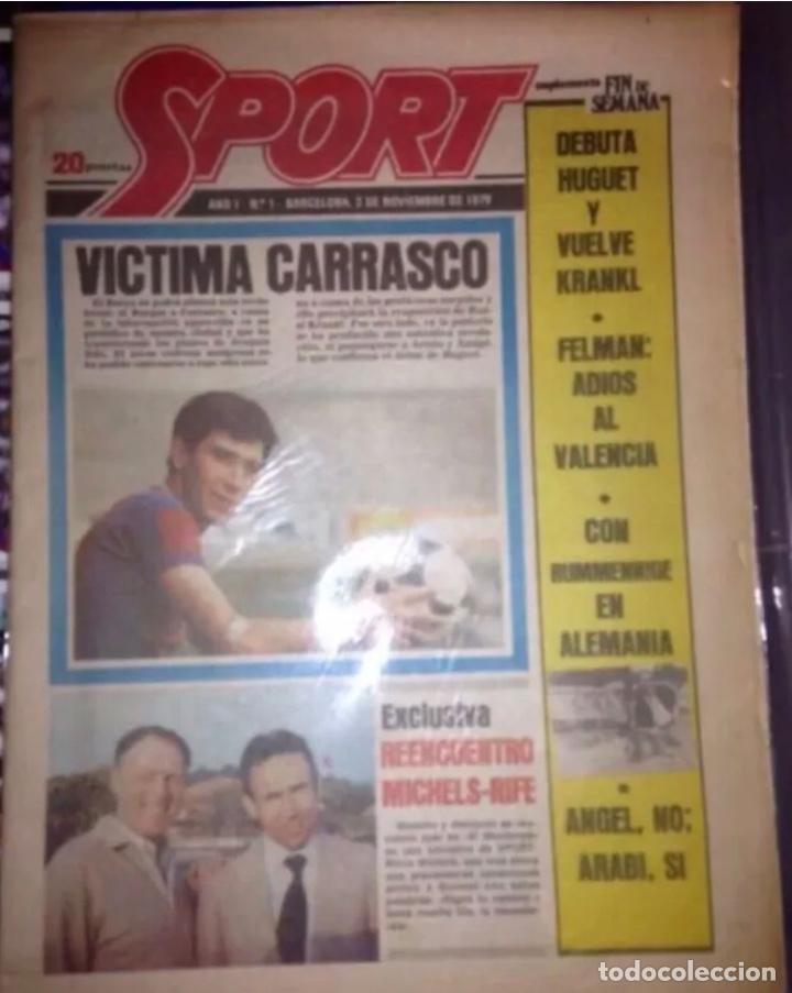 SPORT DIARIO DEPORTIVO AÑO 1 NUMERO 1 DE 3 DE NOVIEMBRE 1979 ORIGINAL (Coleccionismo Deportivo - Revistas y Periódicos - Sport)