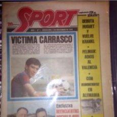 Coleccionismo deportivo: SPORT DIARIO DEPORTIVO AÑO 1 NUMERO 1 DE 3 DE NOVIEMBRE 1979 ORIGINAL. Lote 201304816