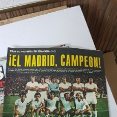 Coleccionismo deportivo: REVISTA AS COLOR REAL MADRID CAMPEÓN DE LIGA 74- 75. Lote 201793617
