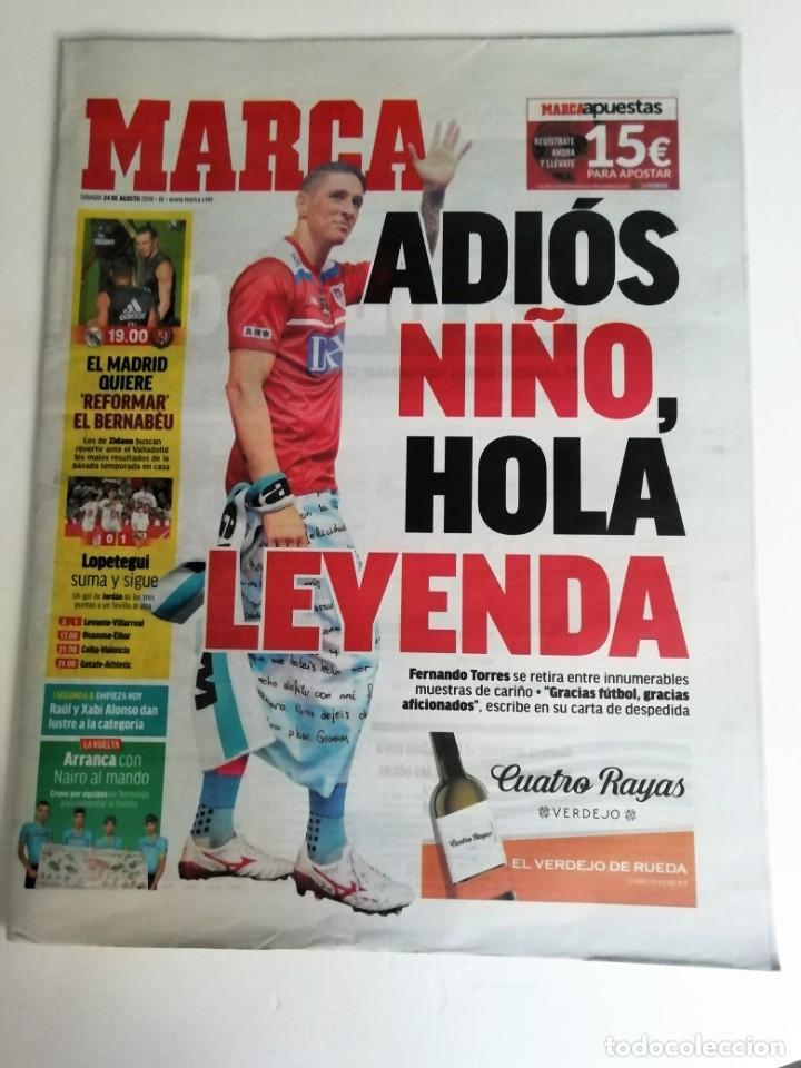 MARCA: RETIRADA DE FERNANDO TORRES (Coleccionismo Deportivo - Revistas y Periódicos - Marca)