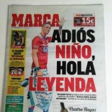 Collezionismo sportivo: MARCA: RETIRADA DE FERNANDO TORRES. Lote 202392218