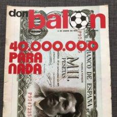 Coleccionismo deportivo: DON BALON 14 - DAUCIK - PÓSTER PIRRI Y PEREIRA - JOVENTUT BADALONA - BORG - SPITZ. Lote 134014738