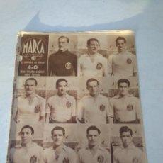 Coleccionismo deportivo: MARCA SEMANARIO GRAFICO Nº 162 ESPAÑA 4 FRANCIA 0 / LA SELECCION CATALANA VENCE A LA 17 MARZO 1942. Lote 202534973
