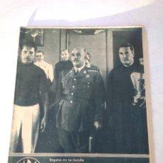Coleccionismo deportivo: MARCA SUPLEMENTO GRAFICO Nº 37 FRANCO PRESIDE LAS PRUEBAS DE BALANDROS 10 AGOSTO 1943. Lote 202535167