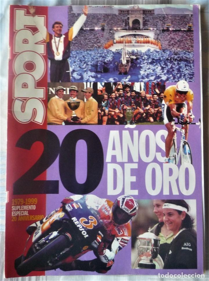 SUPLEMENTO ESPECIAL 20 ANIVERSARIO DEL DIARIO SPORT (Coleccionismo Deportivo - Revistas y Periódicos - Sport)