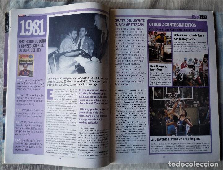 Coleccionismo deportivo: SUPLEMENTO ESPECIAL 20 ANIVERSARIO DEL DIARIO SPORT - Foto 4 - 202573116