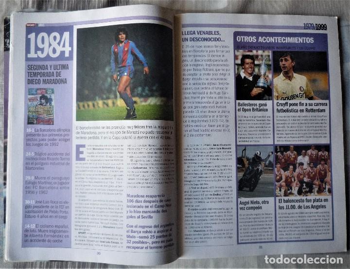 Coleccionismo deportivo: SUPLEMENTO ESPECIAL 20 ANIVERSARIO DEL DIARIO SPORT - Foto 5 - 202573116