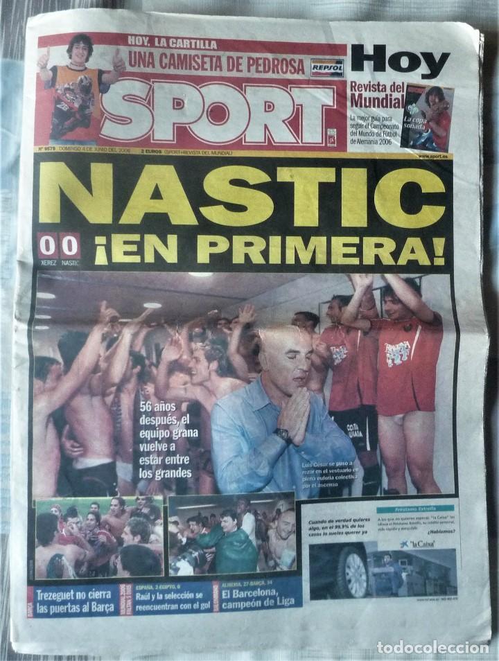 DIARIO SPORT DE 4 DE JUNIO DE 2006 (Coleccionismo Deportivo - Revistas y Periódicos - Sport)