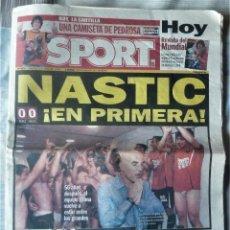 Coleccionismo deportivo: DIARIO SPORT DE 4 DE JUNIO DE 2006. Lote 202582828