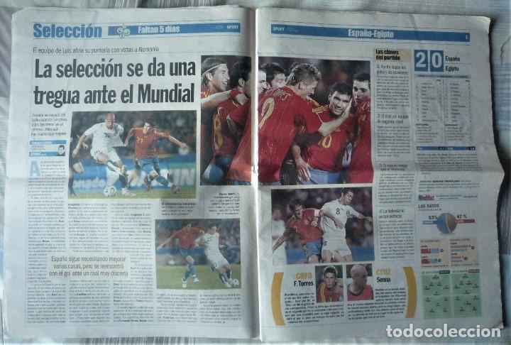 Coleccionismo deportivo: DIARIO SPORT DE 4 DE JUNIO DE 2006 - Foto 3 - 202582828