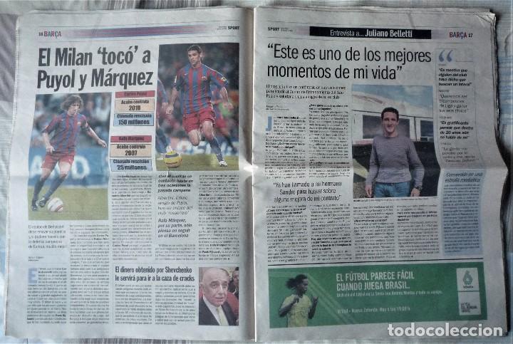 Coleccionismo deportivo: DIARIO SPORT DE 4 DE JUNIO DE 2006 - Foto 4 - 202582828