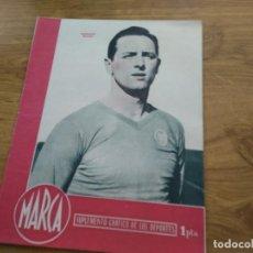 Coleccionismo deportivo: MARCA SUPLEMENTO GRAFICO DE LOS DEPORTES Nº 18 QUEREJETA MADRID FIGURAS GARCIA ALVAREZ 24 ENERO 1945. Lote 202590823