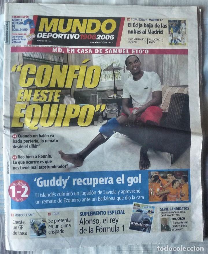 MUNDO DEPORTIVO DE 26 DE OCTUBRE DE 2006 (Coleccionismo Deportivo - Revistas y Periódicos - Mundo Deportivo)