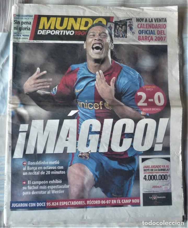 MUNDO DEPORTIVO DE 6 DE DICIEMBRE DE 2006 (Coleccionismo Deportivo - Revistas y Periódicos - Mundo Deportivo)