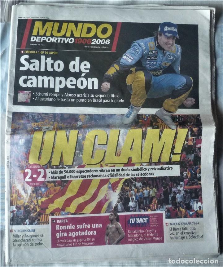MUNDO DEPORTIVO DE 9 DE OCTUBRE DE 2006 (Coleccionismo Deportivo - Revistas y Periódicos - Mundo Deportivo)