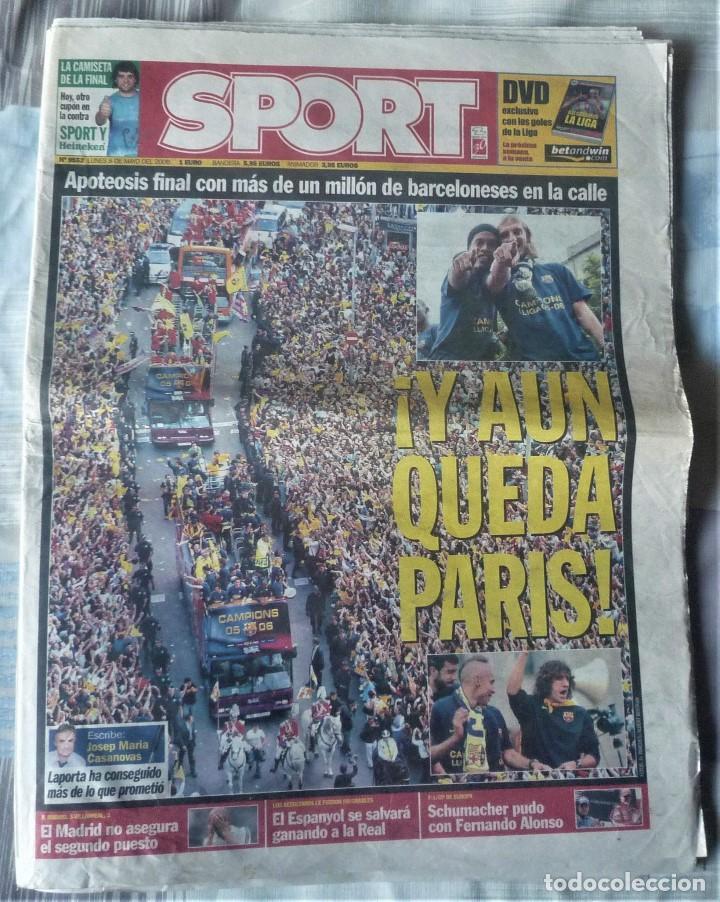 DIARIO SPORT DE 8 DE MAYO DE 2006 (Coleccionismo Deportivo - Revistas y Periódicos - Sport)