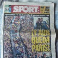 Coleccionismo deportivo: DIARIO SPORT DE 8 DE MAYO DE 2006. Lote 202693458