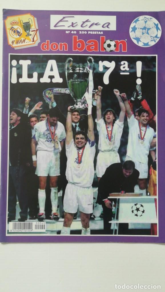 DON BALÓN REAL MADRID CAMPEÓN EUROPA CHAMPIONS 1998 LA 7 JUVENTUS EXTRA 40 MIJATOVIC (Coleccionismo Deportivo - Revistas y Periódicos - Don Balón)