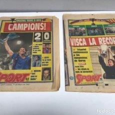 Coleccionismo deportivo: 2 DIARI SPORT BARÇA CAMPEONES RECOPA 1989. Lote 202945803