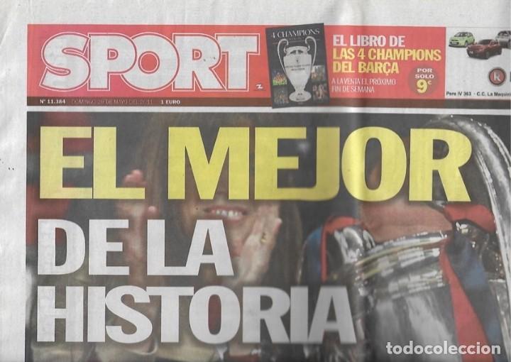 DIARIO SPORT: CUARTA CHAMPIONS DEL BARÇA. 29 DE MAYO DE 2011 (Coleccionismo Deportivo - Revistas y Periódicos - Sport)