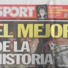 Coleccionismo deportivo: DIARIO SPORT: CUARTA CHAMPIONS DEL BARÇA. 29 DE MAYO DE 2011. Lote 203068966