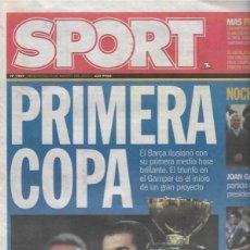 Coleccionismo deportivo: DIARIO SPORT: EL BARÇA GANA EL GAMPER. 23 DE AGOSTO DE 2000. Lote 203069075
