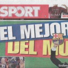 Coleccionismo deportivo: DIARIO SPORT: EL BARÇA GANA SU TERCERA CHAMPIONS. 28 DE MAYO DE 2009. Lote 203069220