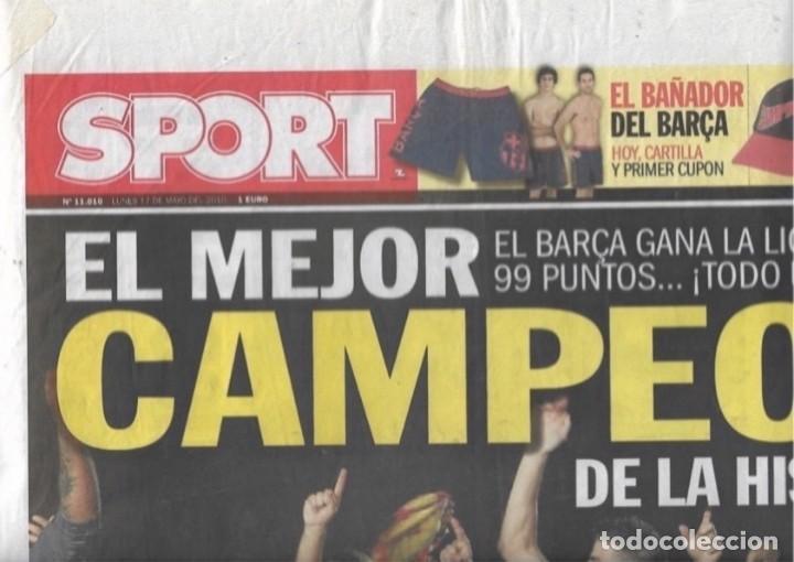 DIARIO SPORT: EL BARÇA GANA LA LIGA 2009-10. 17 DE MAYO DE 2010 (Coleccionismo Deportivo - Revistas y Periódicos - Sport)