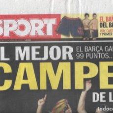 Coleccionismo deportivo: DIARIO SPORT: EL BARÇA GANA LA LIGA 2009-10. 17 DE MAYO DE 2010. Lote 203069503