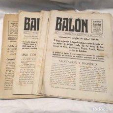 Coleccionismo deportivo: BALON REVISTA DEPORTIVA CAMPEONATO CATALAN SAN JUAN DE VILASSAR AÑO 1947 DEL Nº 1 AL 14. Lote 203103492