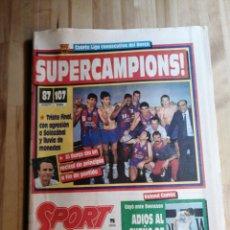 Coleccionismo deportivo: PERIODICO SPORT TITULO LIGA DE BASKET F C BARCELONA TEMPORADA 89/90. Lote 203139175
