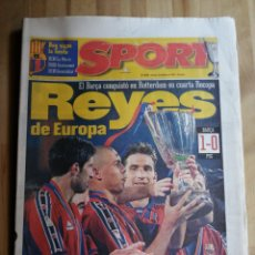 Coleccionismo deportivo: PERIODICO SPORT, F. C. BARCELONA CAMPEON RECOPA ROTTERDAM 1997. Lote 203145240