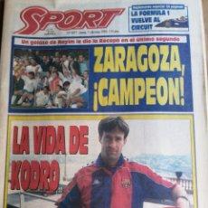 Coleccionismo deportivo: DIARIO SPORT ZARAGOZA CAMPEON DE LA RECOPA DE EUROPA 1995. Lote 203212827