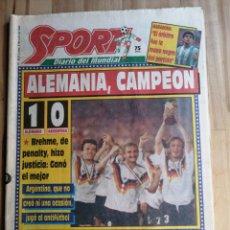 Coleccionismo deportivo: DIARIO SPORT, ALEMANIA CAMPEONA DEL MUNDIAL DE FUTBOL ITALIA 90. Lote 203215962