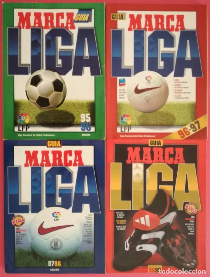 LOTE 4 GUIAS LIGA MARCA - EXTRA 95/96 96/97 97/98 98/99 GUIA FUTBOL (Coleccionismo Deportivo - Revistas y Periódicos - Marca)