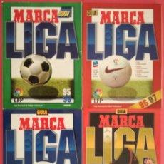 Colecionismo desportivo: LOTE 4 GUIAS LIGA MARCA - EXTRA 95/96 96/97 97/98 98/99 GUIA FUTBOL. Lote 203321203