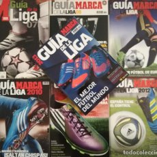 Coleccionismo deportivo: LOTE 7 GUIAS LIGA MARCA - EXTRA 2007 2008 2009 2010 2011 2012 2013 GUIA FUTBOL. Lote 203346922