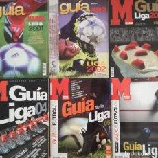 Coleccionismo deportivo: LOTE 6 GUIA LIGA MARCA EXTRA 2001 2002 2003 2004 2005 2006 GUIA 00/01 01/02 02/03 03/04 04/05 05/06. Lote 203347123