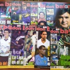 Coleccionismo deportivo: DON BALÓN LOTE 9 NUMEROS AÑO 2001 BARCELONA MADRID BETIS VALENCIA... Lote 203428672