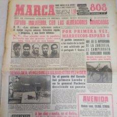 Coleccionismo deportivo: MARCA-15/5/60,N5712,ESPAÑA-INGLATERRA FÚTBOL,MULDER VENCEDOR EN BILBAO CICLISMO. Lote 203552140