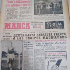 Coleccionismo deportivo: MARCA-20/12/63,N6834,EL BETIS COMPLETO Y EL SEVILLA SIN CABRAL, DESCONFIADA ANDLUZA A LOS. Lote 203561826