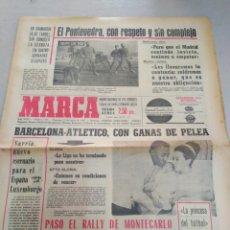 Coleccionismo deportivo: MARCA-15/1/67,N7789,EL PONTEVEDRA CON RESPETO Y SIN COMPLEJOS, BARCELONA-ATLÉTICO CON GANA. Lote 203581338